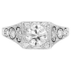 1920s-1930s Engagement Ring with Filigree and Beautiful Round Diamond
