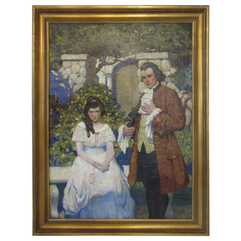 1920s-1930s Illustration Oil Painting by George Giguere For Sale