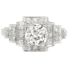 1920s-1930s Pyramid Style Setting Diamond Engagement Ring