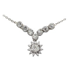 1920s 1.99 Carat Diamond and Silver Necklace