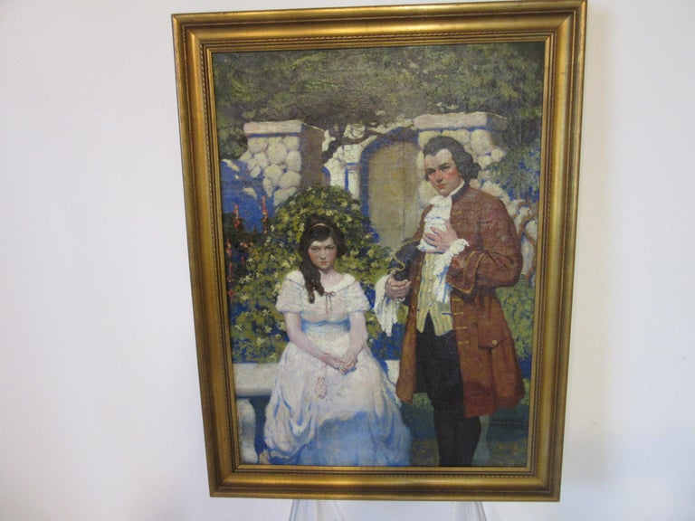 1920s-1930s Illustration Oil Painting by George Giguere For Sale 6