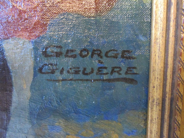 1920s-1930s Illustration Oil Painting by George Giguere For Sale 1