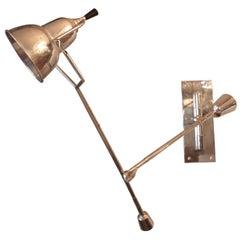 1920s Adjustable Chrome Wall Lamp by Edouard Buquet