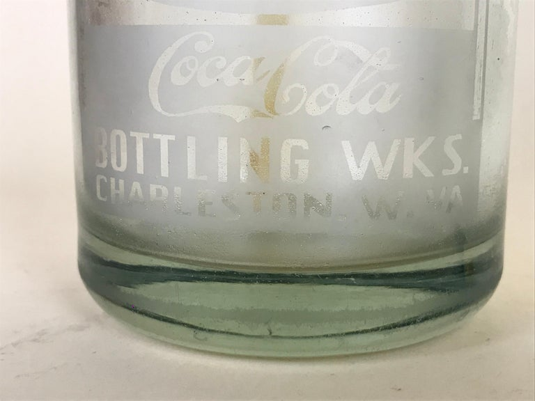 1920s American Advertising Glass Syphon Coca-Cola Acid Etched Bar Bottle Seltzer For Sale 1