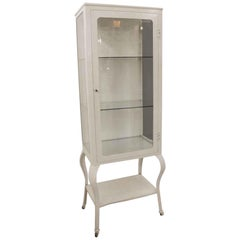 1920s American-Made Medical Cabinet with Beveled Glass