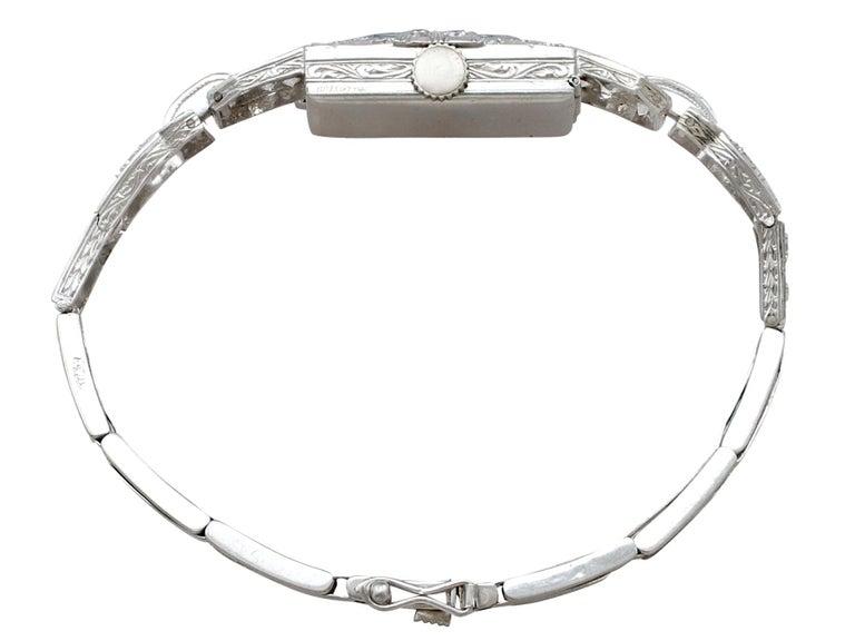 1920s Antique Art Deco 1.86 Carat Diamond and Platinum Ladies Cocktail Watch For Sale 2