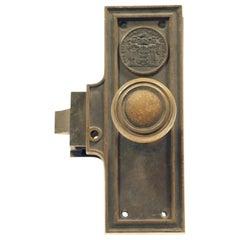 1920s Antique Corbin Seal of New Jersey Mono Lock Door Set