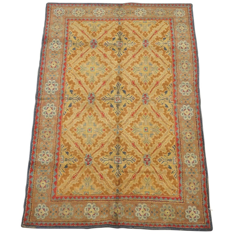 1920s Antique Cotton Indian Agra Rug For Sale At 1stdibs