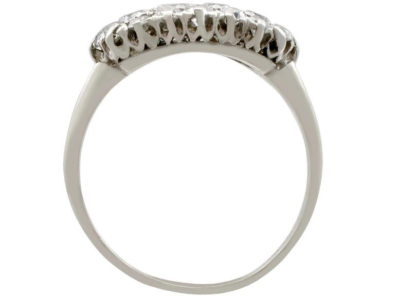 Women's 1920s Antique Diamond and Platinum Cluster Ring For Sale