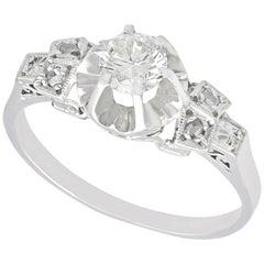 1920s Antique Diamond and Platinum Cocktail Ring