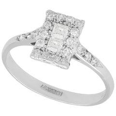 1920s Antique Diamond and Platinum Dress Ring