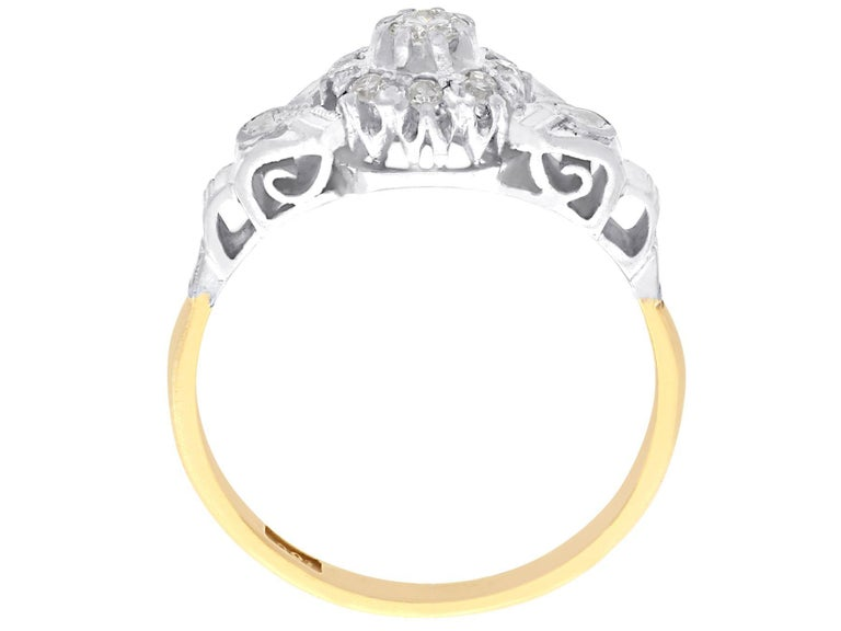 Women's Antique Diamond and Yellow Gold Cocktail Ring 1820s For Sale