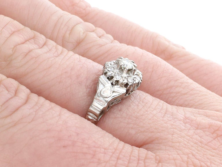 Antique Diamond and Yellow Gold Cocktail Ring 1820s For Sale 2