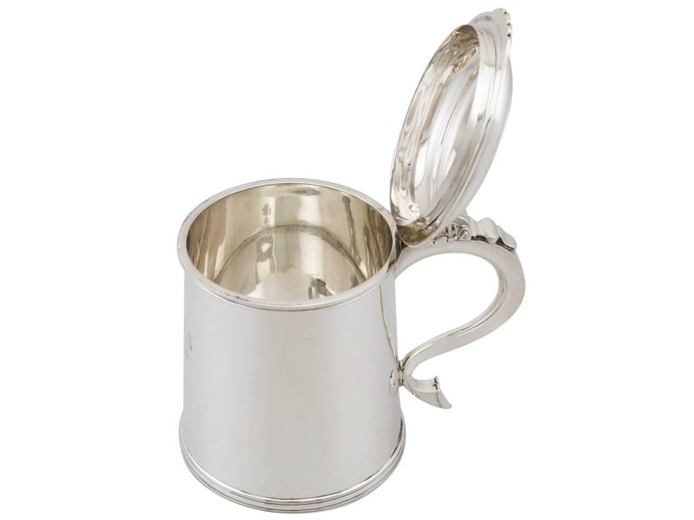1920s Antique Sterling Silver Tankard In Excellent Condition For Sale In Jesmond, Newcastle Upon Tyne