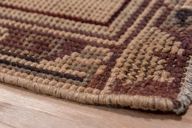 Wool 1920s Antique Long Oushak Runner For Sale
