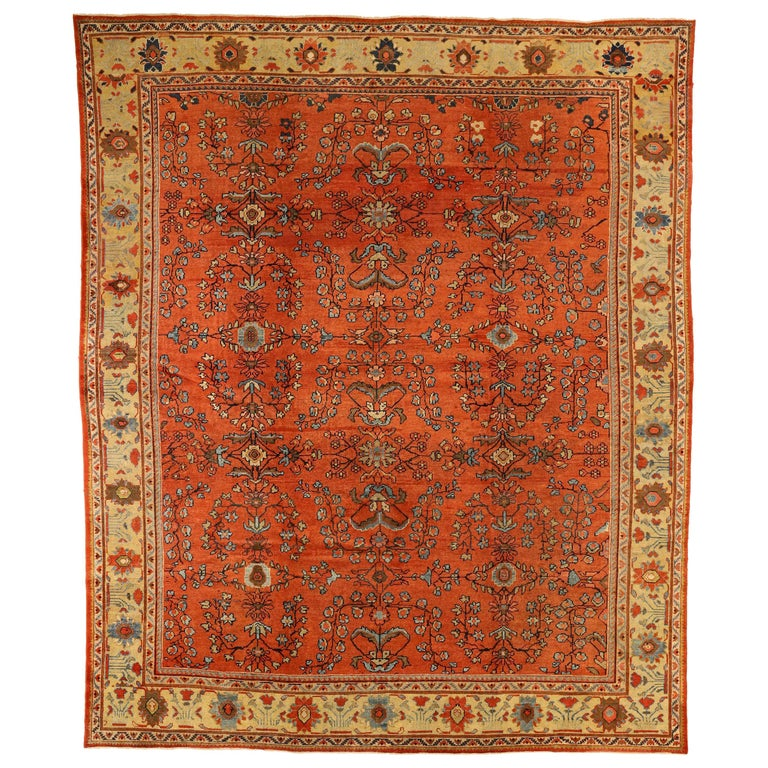 1920s Antique Mahal Persian Rug With