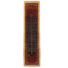 1920s Antique Persian Rug Bakhtiari Style with Animal and Geometric Patterns