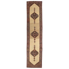 1920s Antique Persian Rug Malayer Design with Grand Tribal and Floral Details