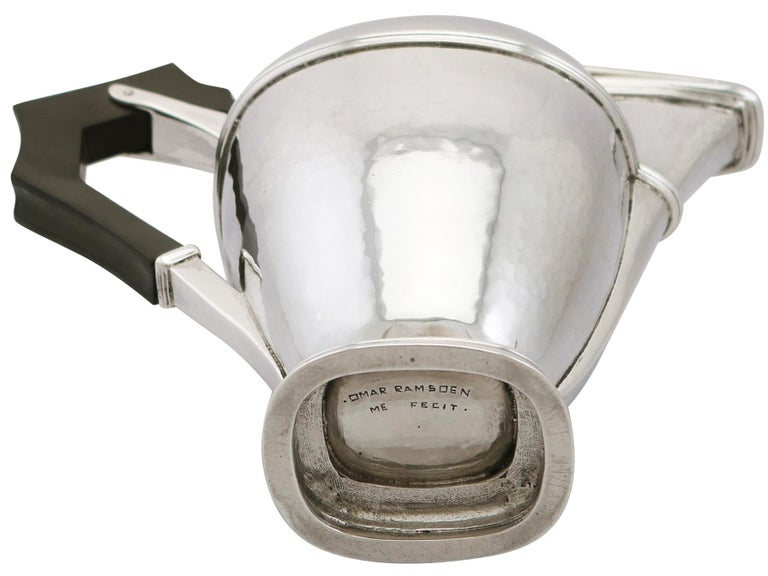1920s Antique Sterling Silver Coffee Jug For Sale 6