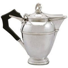 1920s Antique Sterling Silver Coffee Jug