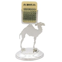 1920s Antique Sterling Silver Desk Calendar