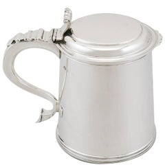 1920s Antique Sterling Silver Tankard