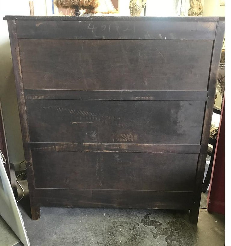 1920s Antique Wood and Glass Single Door Bookcase For Sale 2