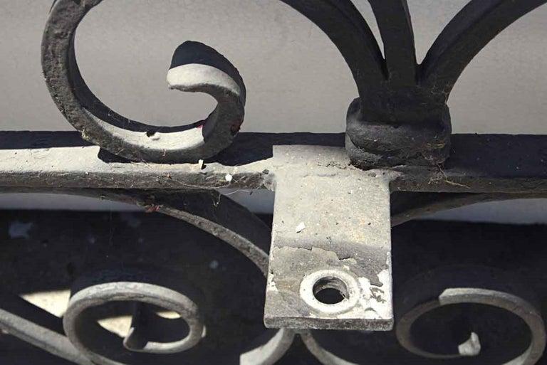 1920s Antique Wrought Iron Dual Driveway or Garden Gates 6