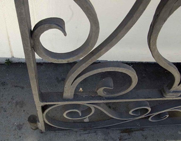 1920s Antique Wrought Iron Dual Driveway or Garden Gates 3