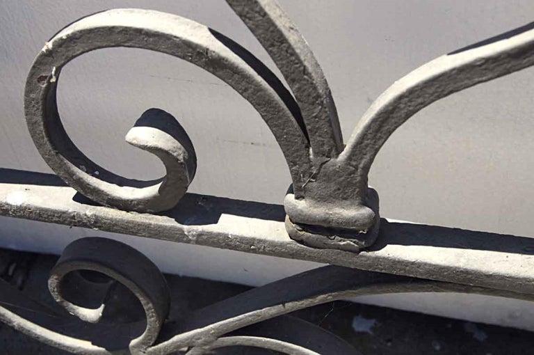 1920s Antique Wrought Iron Dual Driveway or Garden Gates 4