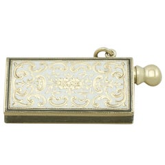 1920s Antique Yellow Gold and Enamel Spark Striker
