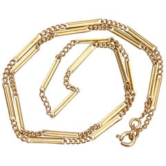 1920s Antique Yellow Gold Fancy Link Chain