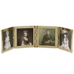 1920s Antique Yellow Gold Travelling Photograph Frame by Tiffany & Co.