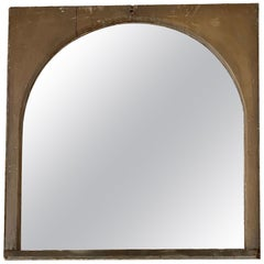 1920s Arched Wood Window with Antiqued Mirror