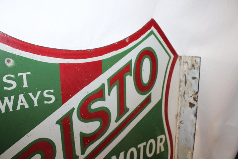 1920s Aristo Oil Union Oil Co. California Double Sided Sign For Sale 3