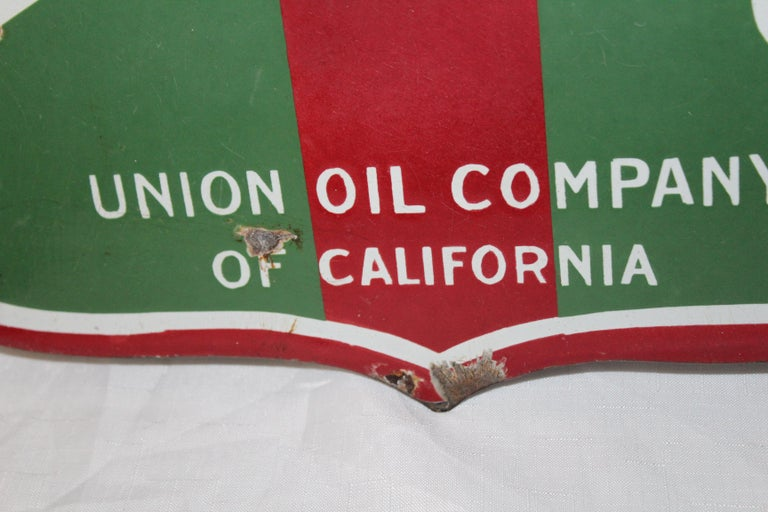 1920s Aristo Oil Union Oil Co. California Double Sided Sign For Sale 2
