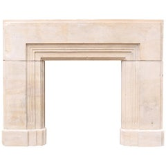 1920s Art Deco Bath Stone Fireplace