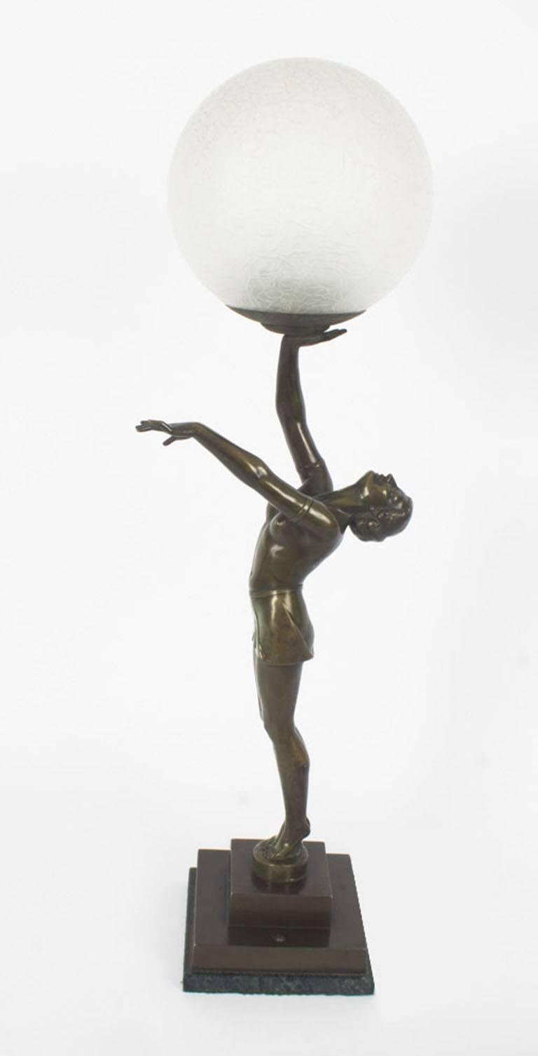 1920s Art Deco Bronze Dancing Lady Lamp At 1stdibs