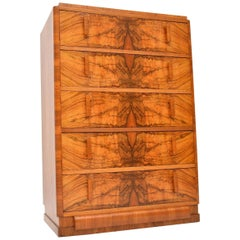 1920s Art Deco Burr Walnut Chest of Drawers