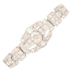 1920's Art Deco Diamond Bracelet Set in Platinum