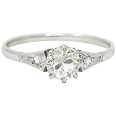 1920s Art Deco Diamond Platinum Engagement Ring