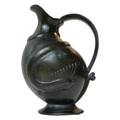 1920s Art Deco Jug in Disko Metal by Krone Copenhagen