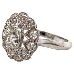 1920s Art Deco Platinum Diamond Rin
