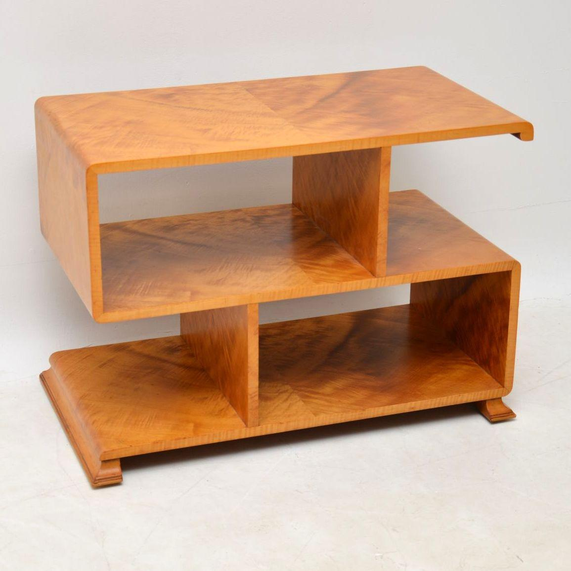 Superieur 1920s Art Deco Satin Wood Bookcase Or Side Table