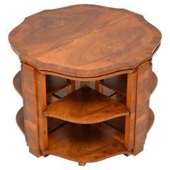 1920s Art Deco Walnut Nesting Coffee Table