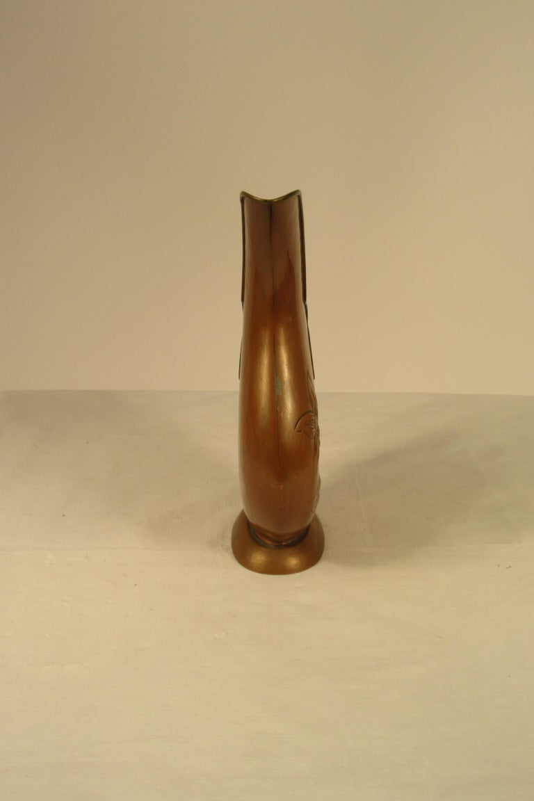 1920s Art Nouveau Copper Pitcher For Sale 1