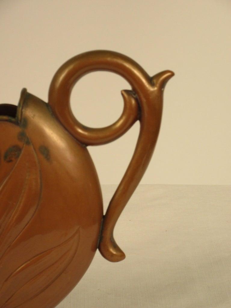 1920s Art Nouveau Copper Pitcher For Sale 5
