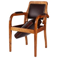 1920s Barber Chair, Armchair, Germany, Birch