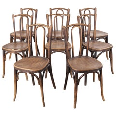 1920s Baumann Bentwood Bistro Dining Chair, Maison Rouget, Set of Eight