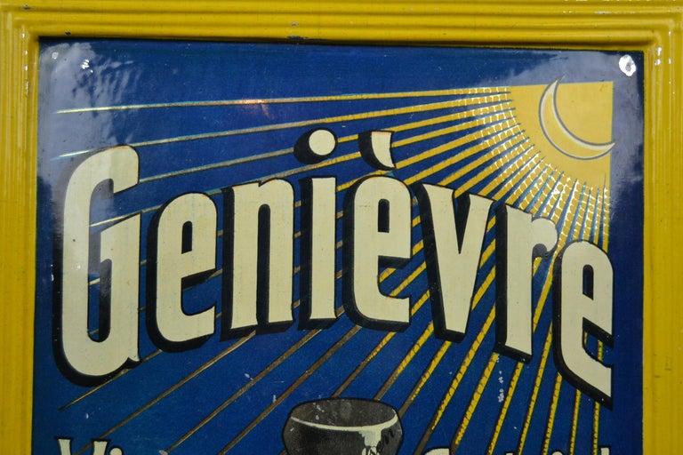 1920s Belgian Genever Tin Advertising Sign 3